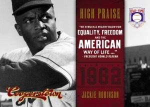 2012 Panini Cooperstown Jackie Robinson High Praise Insert Card