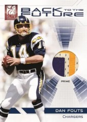 2012 Panini Elite Dan Fouts Back to the Future Jersey