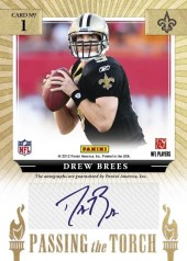 2012 Donruss Elite Drew Brees Passing the Torch