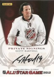 2012 Panini NHL Private Signings Scott Hartnell Fathers Day