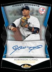 2012 Topps Finest Robinson Cano Autograph Card