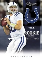 2012 Panini Prestige Andrew Luck Colts Rookie Card