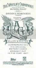 2012 Allen & Ginter No Number Brooks Robinson Mini