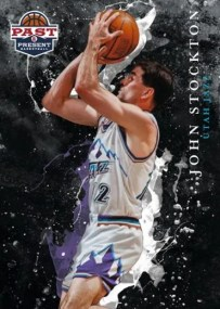 2011-12 Panini Past & Present Raining 3's Card #20 John Stockton