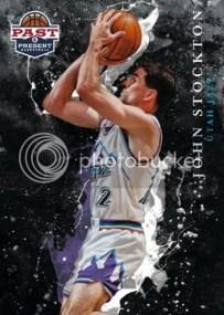 2011-12 Panini Past & Present Raining 3's Card #20 John Stockton