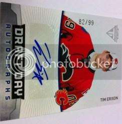 2011-12 Panini Titanium Tim Erixon Draft Day Autograph Card #/99