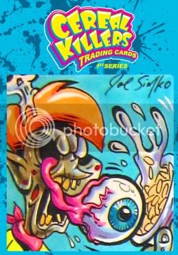Cereal Killers Series 1 Joe Simko Original Color Sketch Art Card