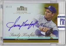 2012 Topps Tribute Sandy Koufax Autograph