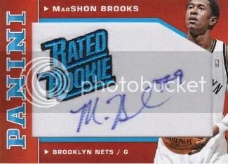 12/13 Panini Rated Rookie MarShon Brooks Autograph