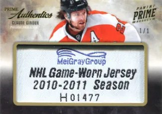 2011-12 Panini Prime Authentics #66 Claude Giroux #/1