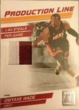 10/11 Donruss Production Line Dwyane Wade Jersey #/10