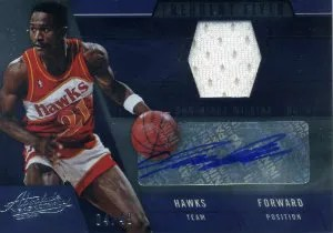 12/13 Panini Absolute Dominique Wilkins Frequent Flyers Jersey Autograph Card