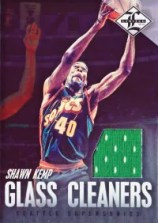 12/13 Panini Limited Glass Cleaners Shawn Kemp Jersey Card
