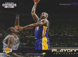 12/13 Panini Playoff Contenders Insert #11 Shaquille O'Neal
