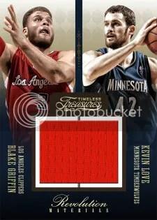 2012/13 Panini Timeless Treasures Revolution Memorabilia Kevion Love - Blake Griffin Jersey Card