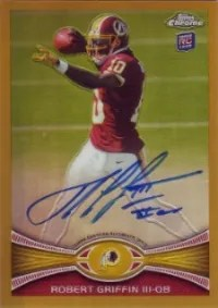 2012 Topps Chrome Gold Robert Griffin III Auto #/10