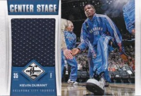 12/13 Panini Limited Center Stage Material #1 Kevin Durant #/199