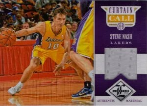12/13 Panini Limited Curtain Call Materials #47 Steve Nash #/199