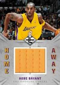 2012-13 Panini Limited Kobe Bryant Home & Away Jersey Card