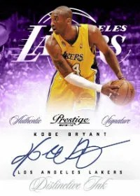 2012-13 Panini Prestige Autograph Kobe Bryant Card