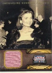 2012 Panini Americana Heroes and Legends Jacqueline Kennedy-Onassis Dress Card