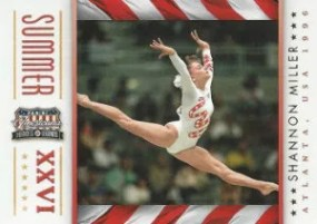 2012 Panini Americana Heroes and Legends Shannon Miller Summer Olympics Insert Card