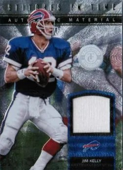 2012 Panini Totally Certified Jim Kelly Stiches in Time Jersey Card