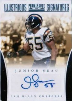 2012 Panini Prominence Illustrious Signatures #7 Junior Seau #/30