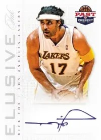 12/13 Panini Past & Present Elusive Ink Rick Fox Auto
