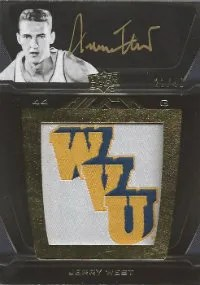 2011-12 Upper Deck Exqusite Jerry West UD Black Autograph #/40