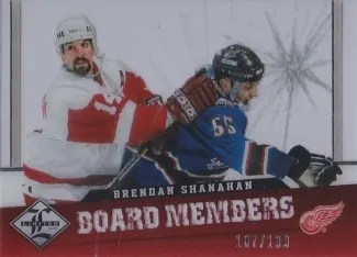 12-13 Panini Limited Board Members Brendan Shanhan Insert Card