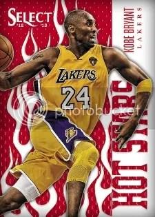 2012/13 Panini Select Hot Stars Kobe Bryant Insert Card