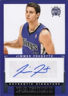 2012/13 Panini Jimmer Fredette Autograph RC Card