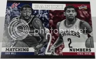 2012/13 Panini Matching Numbers John Wall - Kyrie Irving