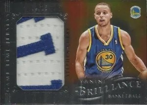 12/13 Panini Brilliance Game Time Jersey Stephen Curry Patch