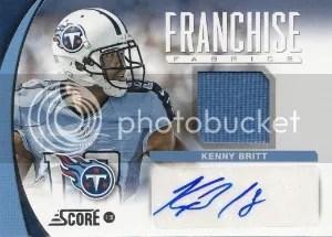 2013 Score Franchise Fabric #21 Kenny Britt Auto