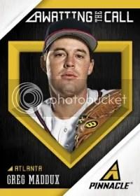 2013 Pinnacle Baseball Awaiting the Calll Greg Maddux