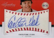 2012 Panini Carlton Fisk Game Ball