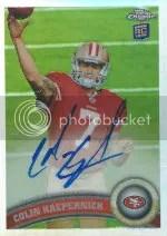 2011 Topps Chrome Colin Kaepernick Autograph