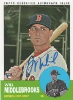 2012 Heritage Will Middlebrooks Autograph