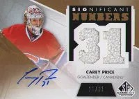 2012-13 Sp Game Used Carey Price