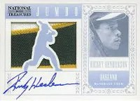 2012 National Treasures Rickey Henderson