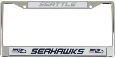 Seattle Seahawks Metal License Plate Cover