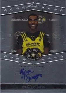 2013 Leaf Metal Draft Tyrone Swoopes Autograph