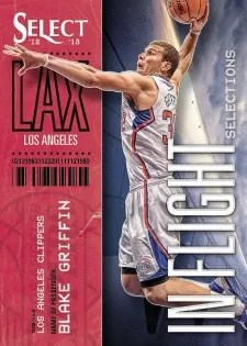 12/13 Panini Select In Flight Selections Blake Griffin Insert Card
