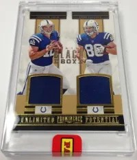 2013 Panini Black Box Unlimited Potential Andrew Luck - Coby Fleener