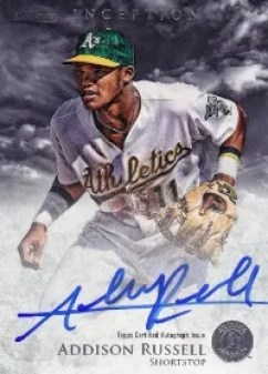 2013 Bowman Inception Addison Russell Autograph