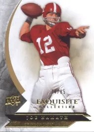 2012 Exquisite Joe Namath Base
