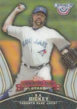 2013 Topps Opening Day Stars R.A. Dickey Insert Card