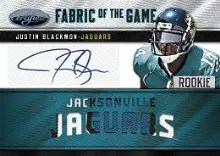 2012 Certified Justin Blackmon Fabric of the Game